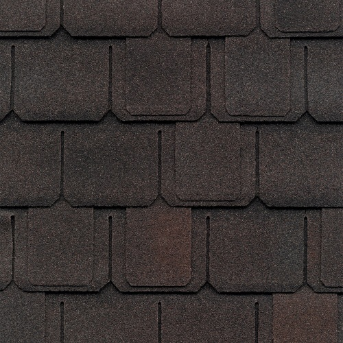 GAF Camelot 14.286-sq ft Sheffield Black Laminated Architectural Roof Shingles