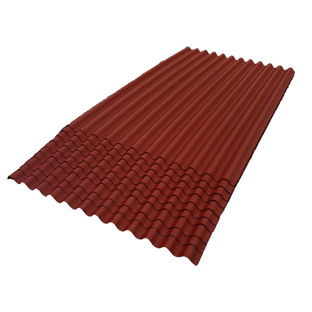 6 ft. 7 in. x 4 ft. Asphalt Corrugated Roof Panel in Red (10-Pack)