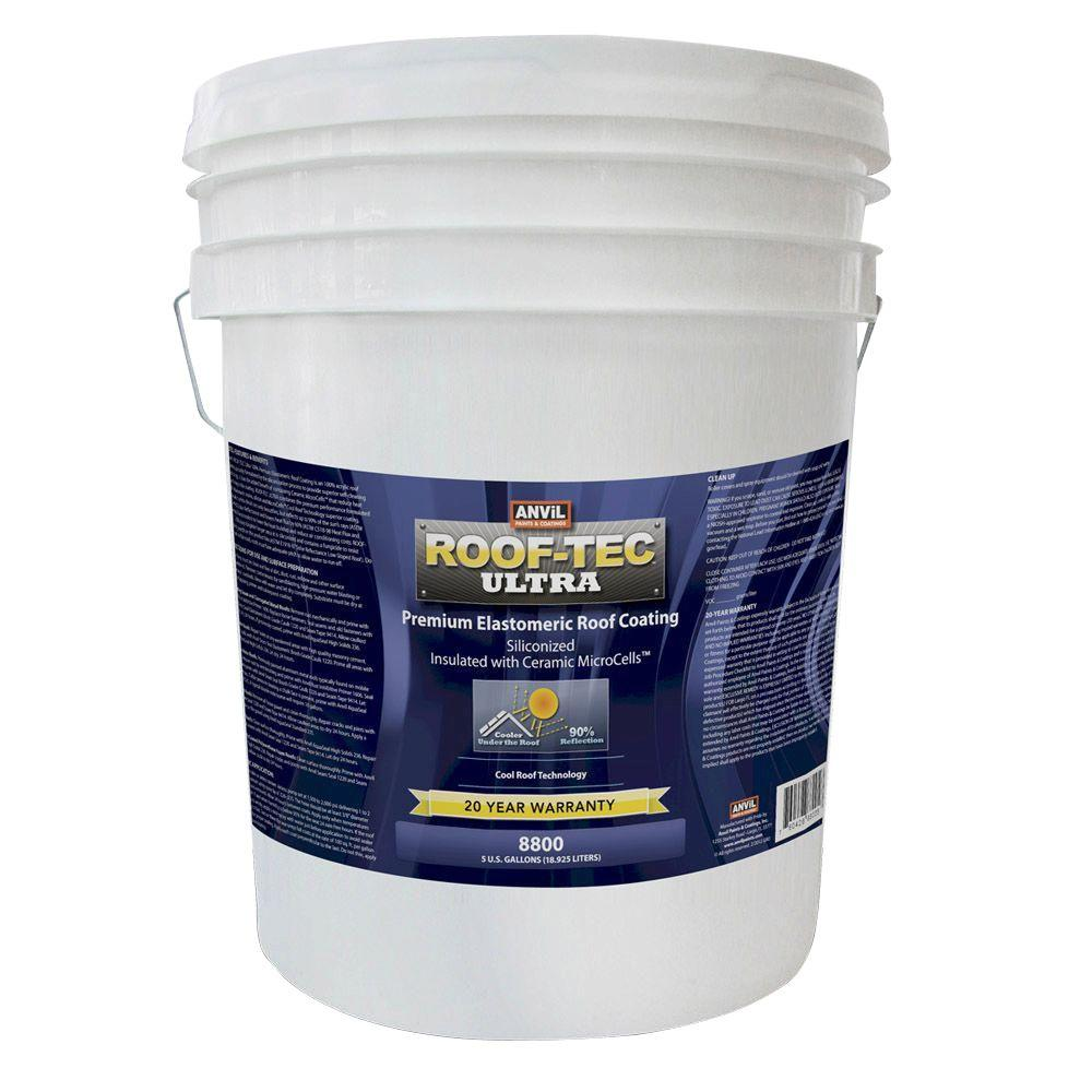 Ultra 5 Gal. Siliconized and Microcell Elastomeric White Reflective Roof Coating