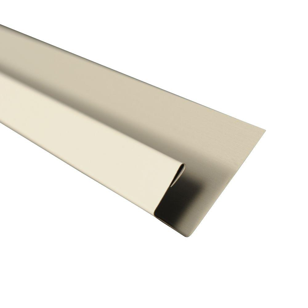 5 in. x 10.5 ft. J-Channel Drip Edge Flashing in White