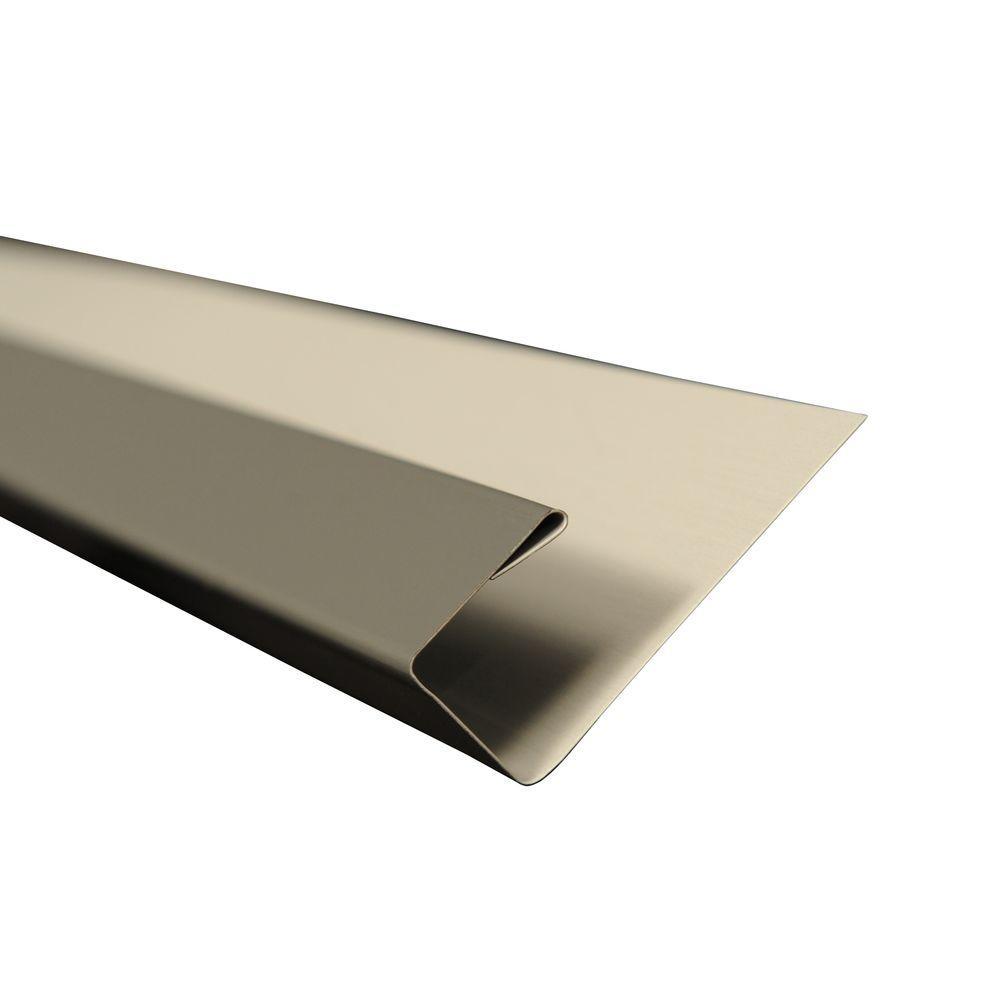 5 in. x 10.5 ft. J-Channel Drip Edge Flashing in Charcoal