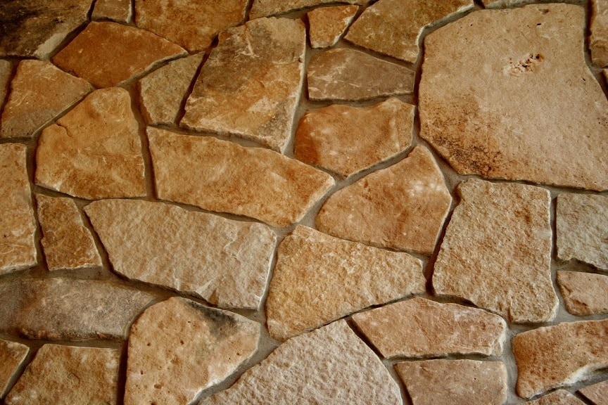 The Quarry Mill Natural Quarried Thin Cut Stone Veneer/Chateau Mosaic / Natural Stone Veneer / Heights: 2- 10Lengths: 6- 18Depths: 3/4- 1-1/4