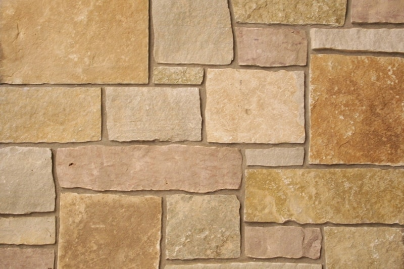 The Quarry Mill Natural Quarried Thin Cut Stone Veneer/Cherrywood / Natural Stone Veneer / Heights: 2- 10Lengths: 6- 18Depths: 3/4- 1-1/4