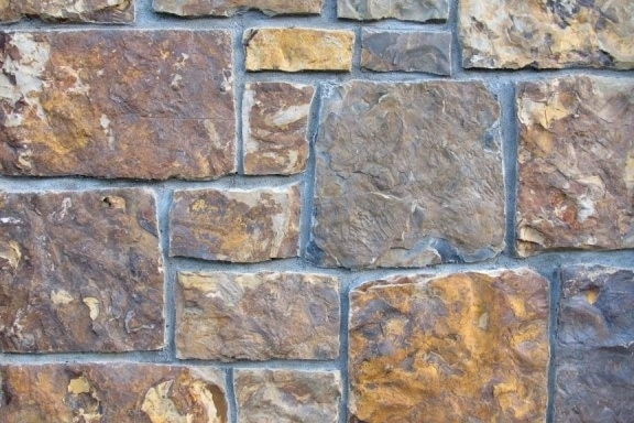 The Quarry Mill Natural Quarried Thin Cut Stone Veneer/Chestnut / Natural Stone Veneer / Heights: 2- 10Lengths: 6- 18Depths: 3/4- 1-1/4