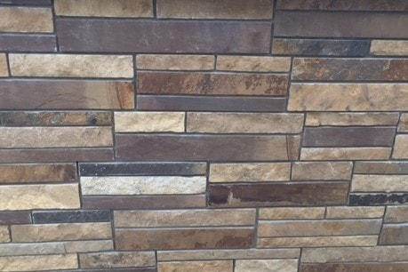 The Quarry Mill Natural Quarried Thin Cut Stone Veneer/Mahogany / Natural Stone Veneer / Heights: 2- 10Lengths: 6- 18Depths: 3/4- 1-1/4