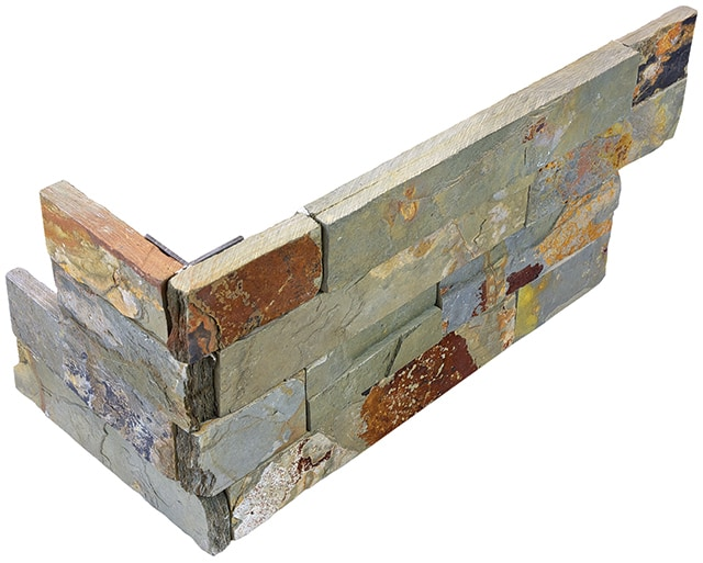 TileDirect Ledge Stone/Forest Blend / assembled corner / 6x18