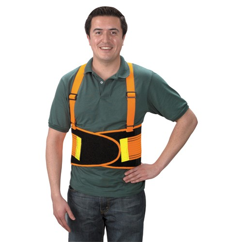 Back Support Belt with Reflector, Medium